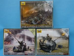 Zvezda MG-34 teams, FLAK-38 and 61-K AA guns