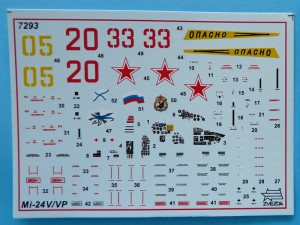Decal sheet offers three options