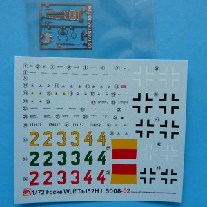 Decals and etched parts