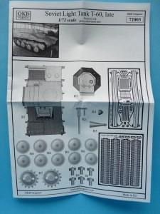 Front - parts plan