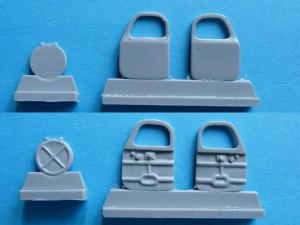 Separate doors and commander's hatch