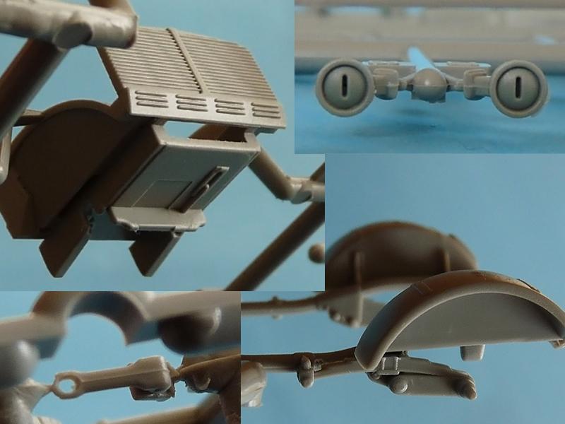 Dragon 7422 Slide modeld parts