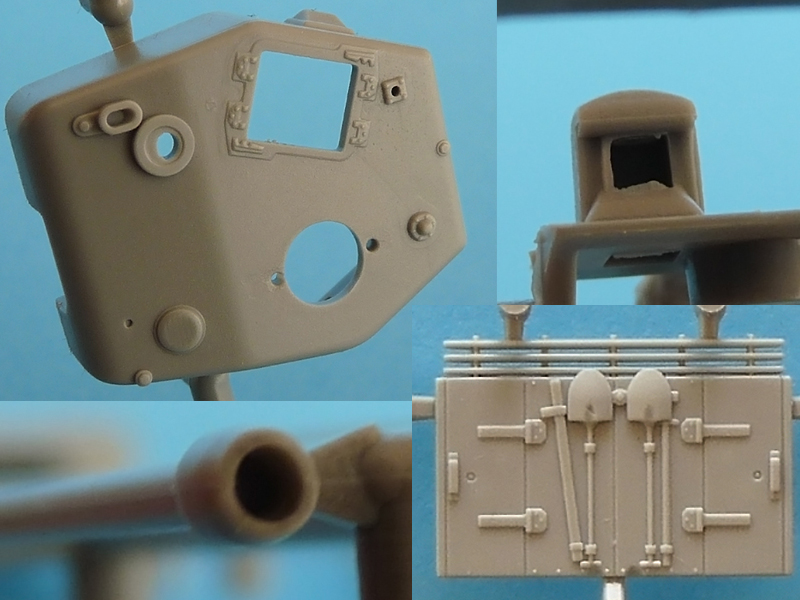 Dragon 7424 Slide molded details