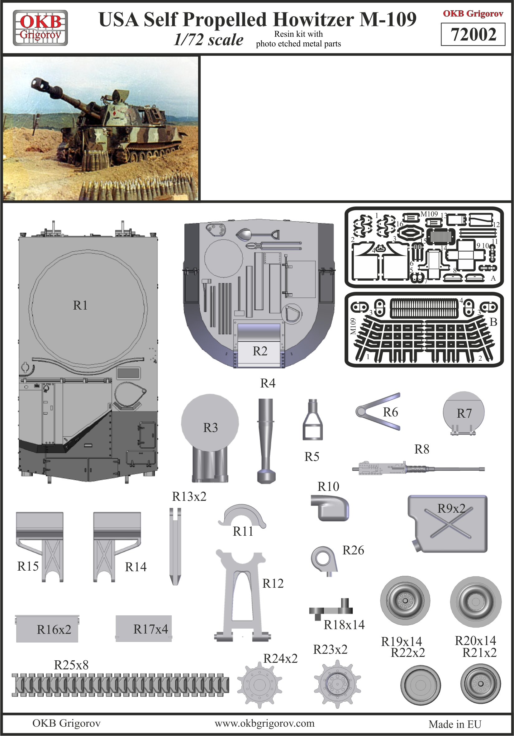 M109 by OKB Grigorov - instructions