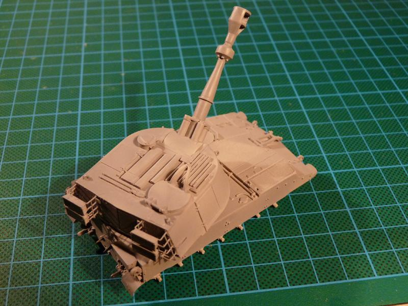 M109 all primed up and ready for paint