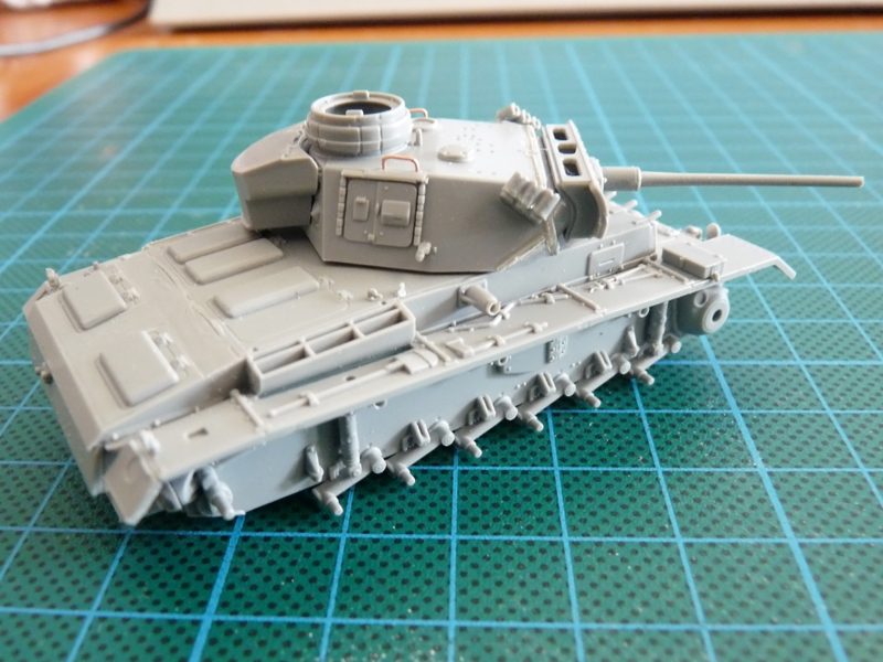 Dragon 1/72 Pz III Ausf. L, kit 7385 Major assembly work complete