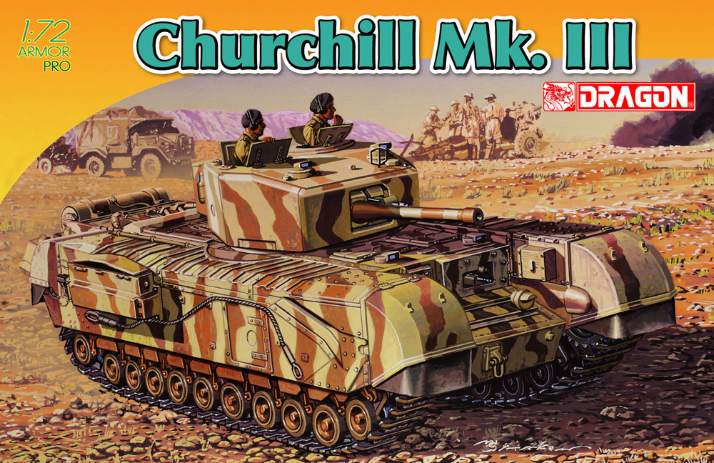 Dragon 172 Churchill Mk. III, kit 7396 - Box top