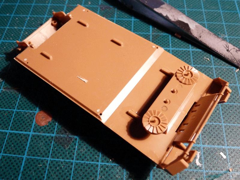 Zvezda 1/72 PzKpfw V Panther Ausf D, kit 5010 Part C58 positioned