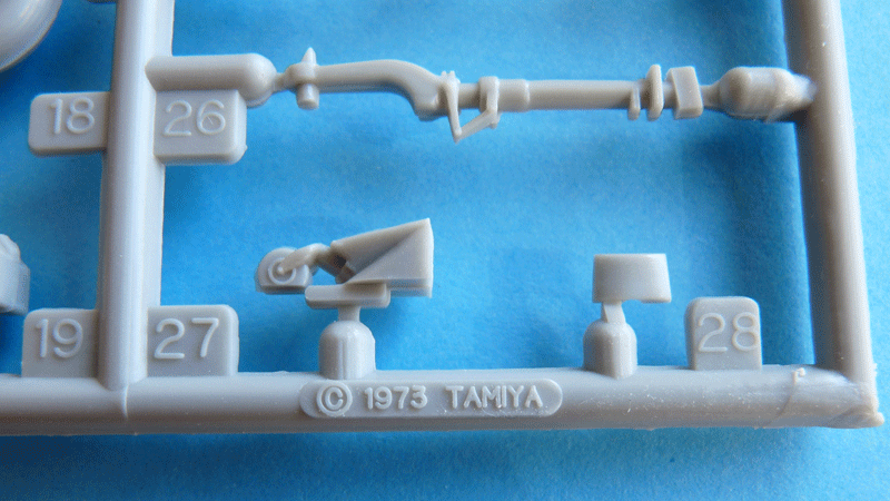 Tamiya 1/48 J2M3 Copyright stamp on the spue
