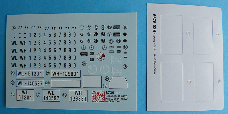Dragon 6739 1/35 SdKfz 10/4 Decals and masks