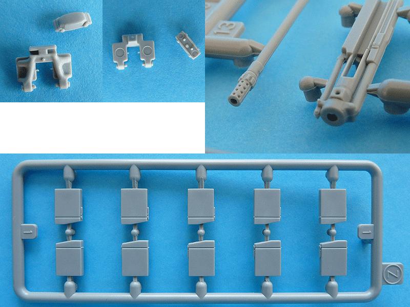 Dragon 6739 1/35 SdKfz 10/4 Magazine boxes (sprue Z), track segments and gun detail
