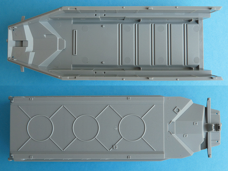 Dragon 6739 1/35 SdKfz 10/4 Hull top and bottom