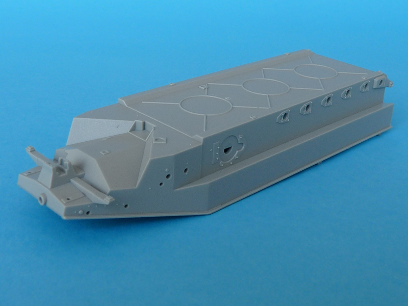 Dragon 6739 1/35 SdKfz 10/4 Hull from the front, upside-down