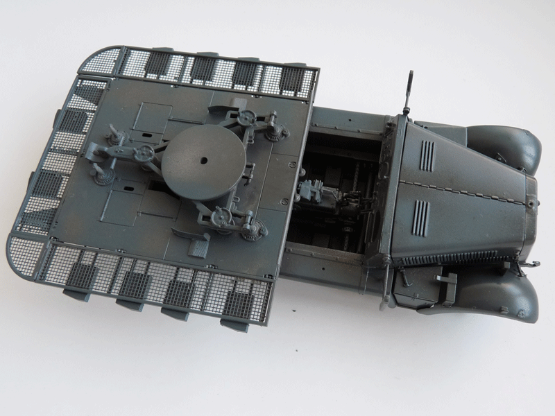 Dragon 6739 1/35 SdKfz 10/4 fur 2cm FLAK 30 Paint and weathering started