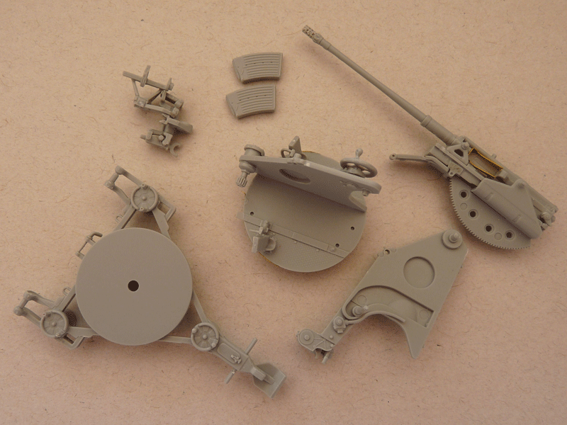 Dragon 6739 1/35 SdKfz 10/4 fur 2cm FLAK 30 Gun subassemblies