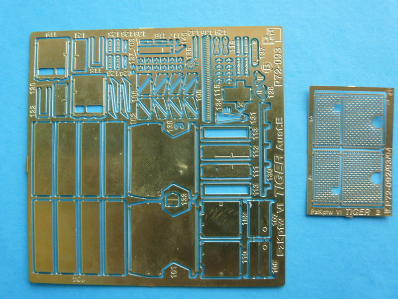 1/72 Part PE set P72-093 for Revell's Tiger Ausf.E - Fret B and C