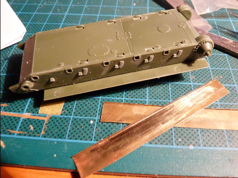 Replacement fenders from 0,1mm brass scrap