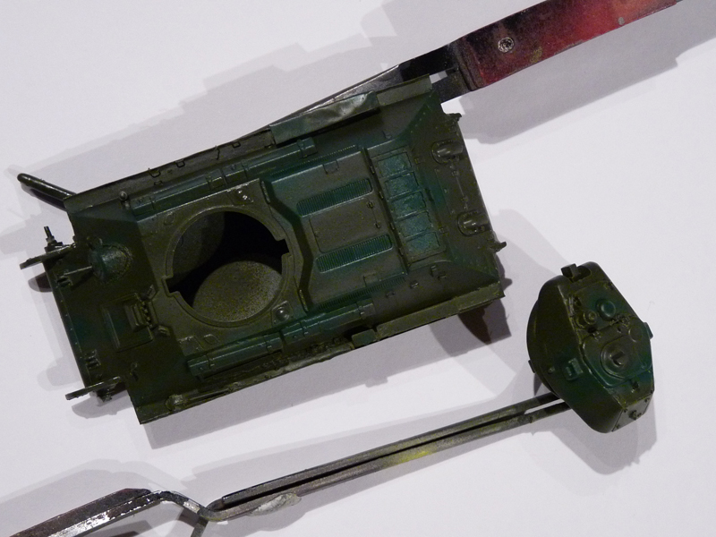 Hull and turret after basic paint