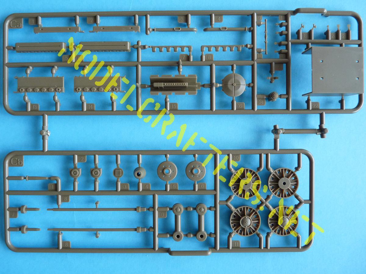 Bronco 1/35 SU-152 Early CB35113 Sprue Ca (engine parts) and Cb (suspension x6)