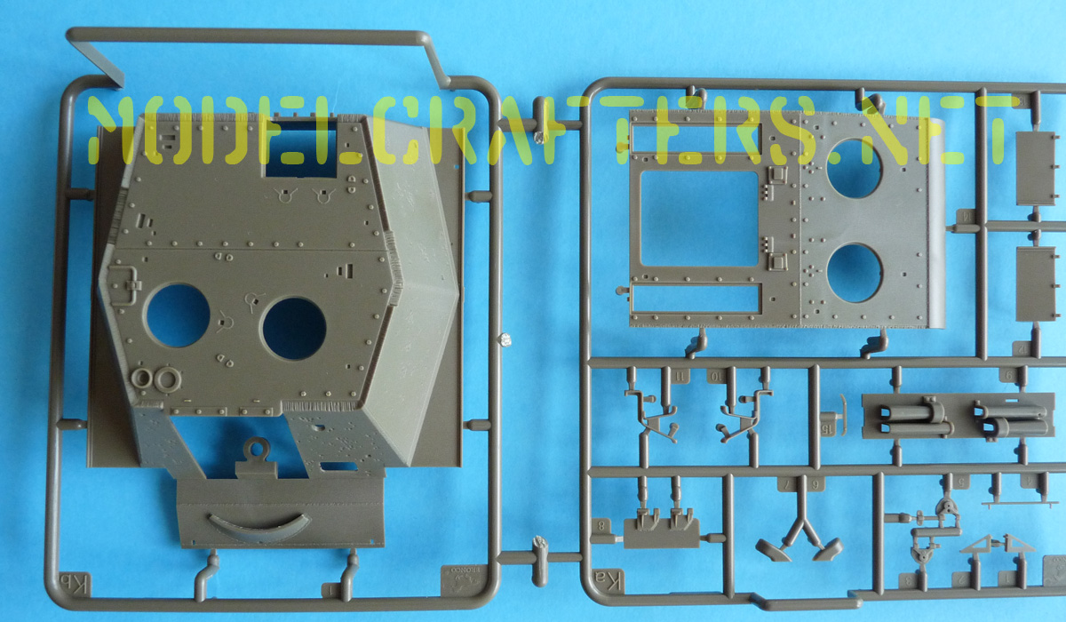 Bronco 1/35 SU-152 Early CB35113 Sprues Ka (hull details) and Kb (casemate)