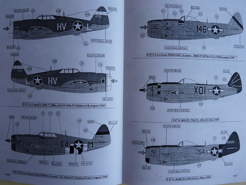 Skymodels decals 1/72 Republic P-47 Thunderbolt, SKY72050