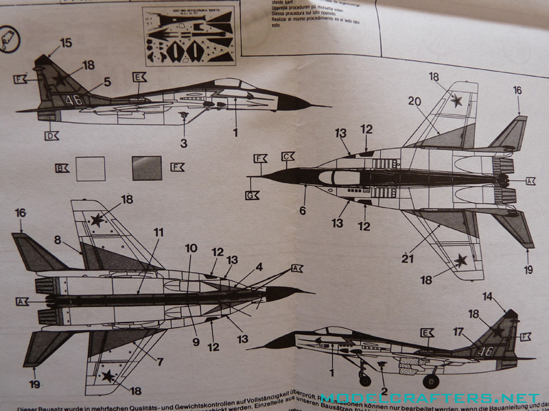 """Revell 04007 MiG-29 """"The Swifts"""""""