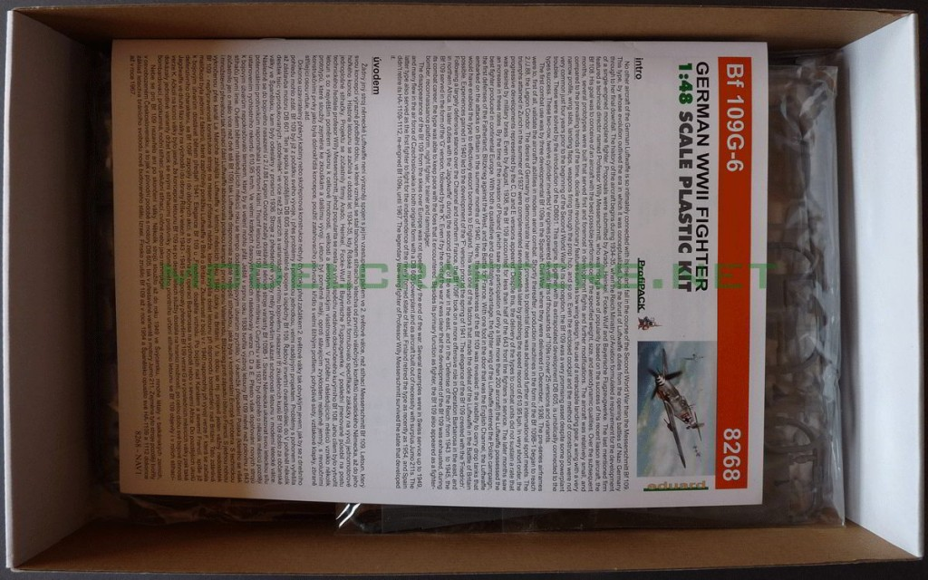 Eduard 1/48 Bf-109G-6, opening the box