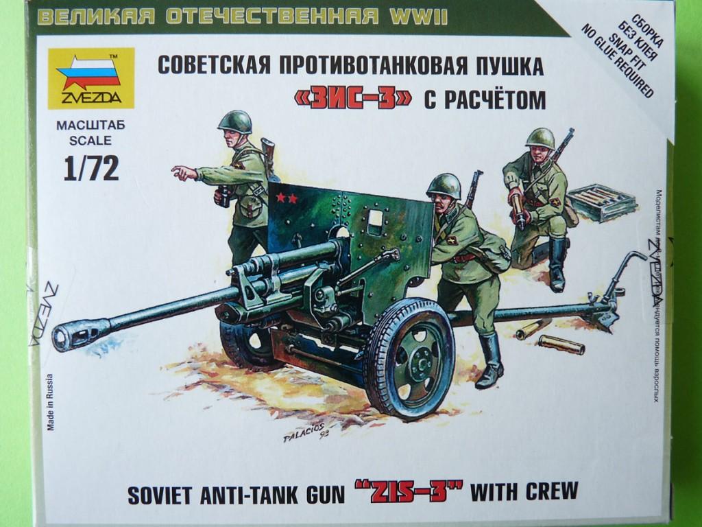 Zvezda 1/72 ZIS-3 with crew, kit 6253
