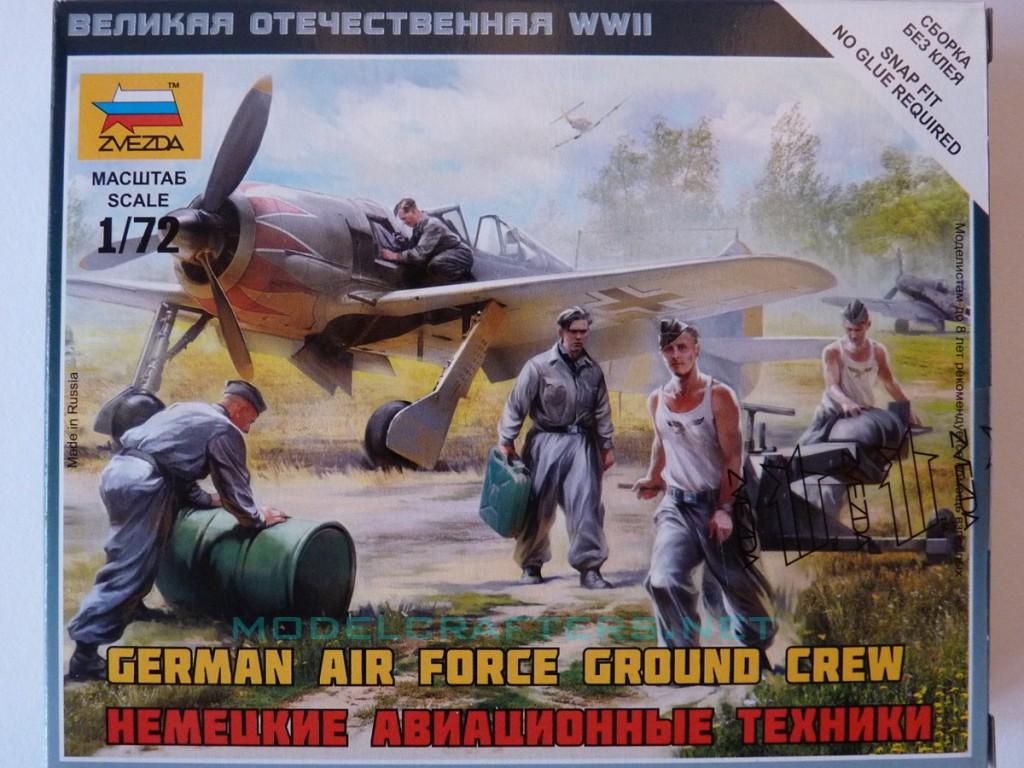 Zvezda 1/72 German Air Force Ground Crew, kit 6188