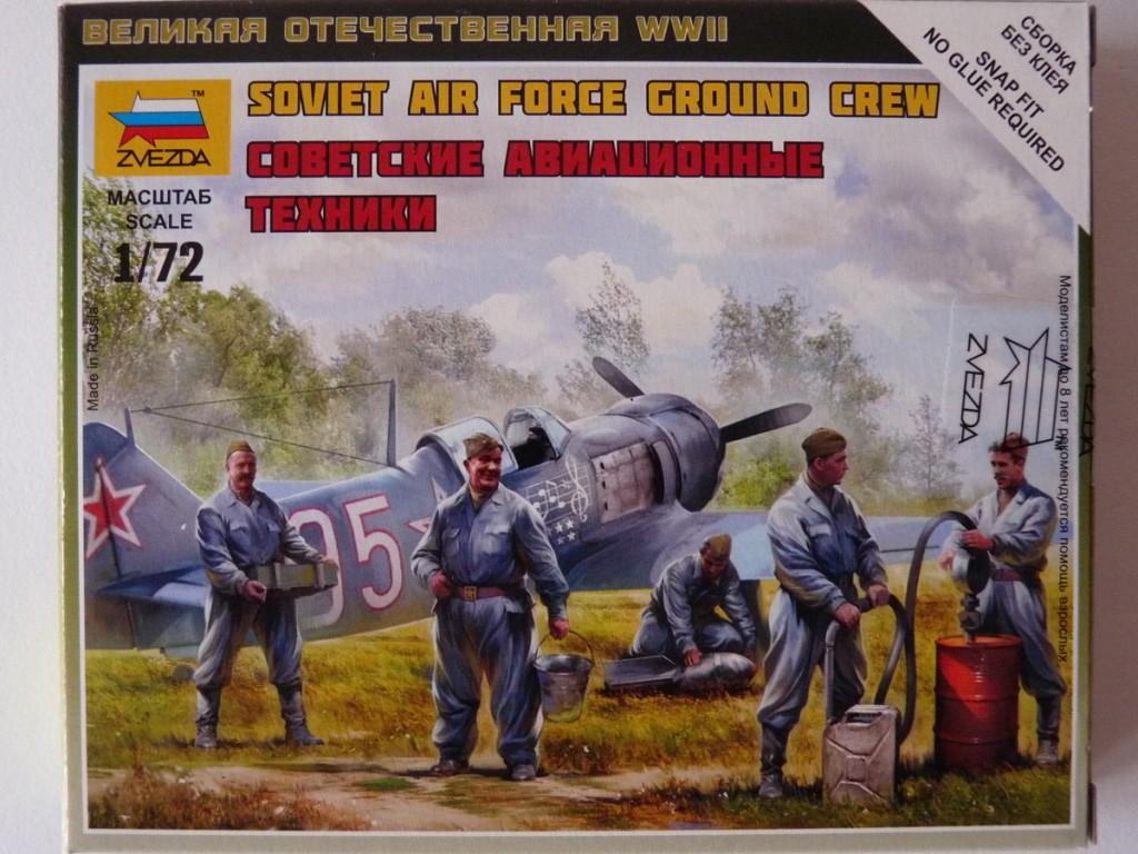 Zvezda 1/72 Soviet Air Force Ground Crew, kit 6187