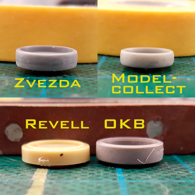 Wheel profiles of all 4 manufacturers