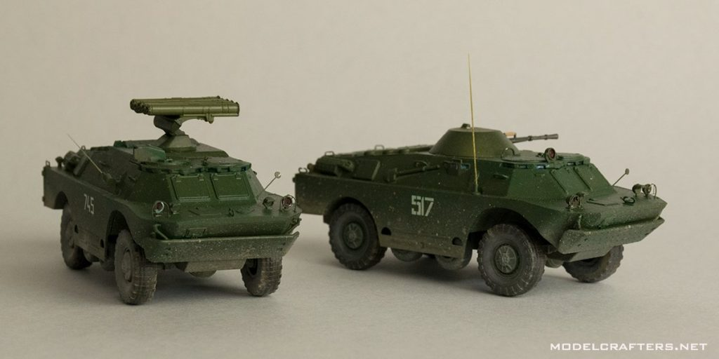 Completed BRDM-2 and 9P148 Konkurs from S-Model kit 720023