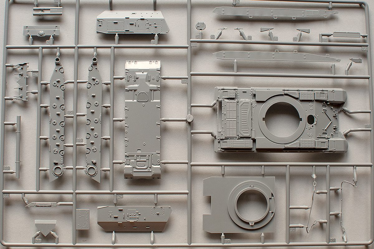 Zvezda 1/72 Msta-S hull big parts sprue