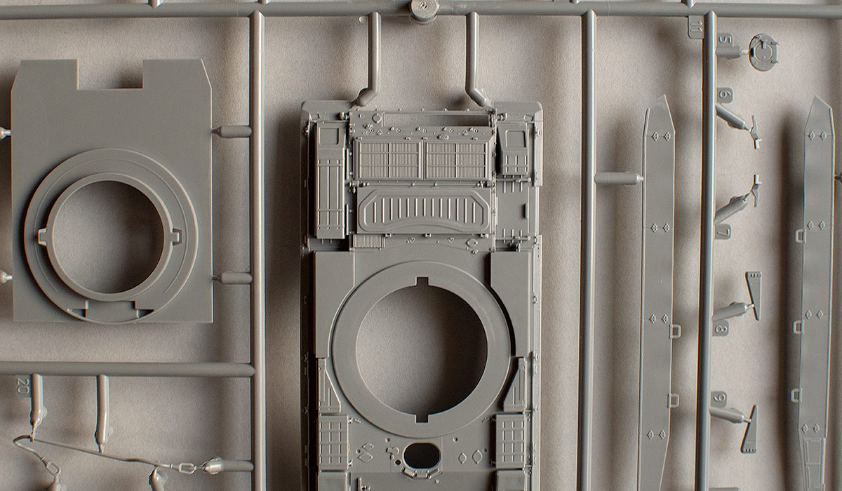 Zvezda 1/72 Msta-S engine deck