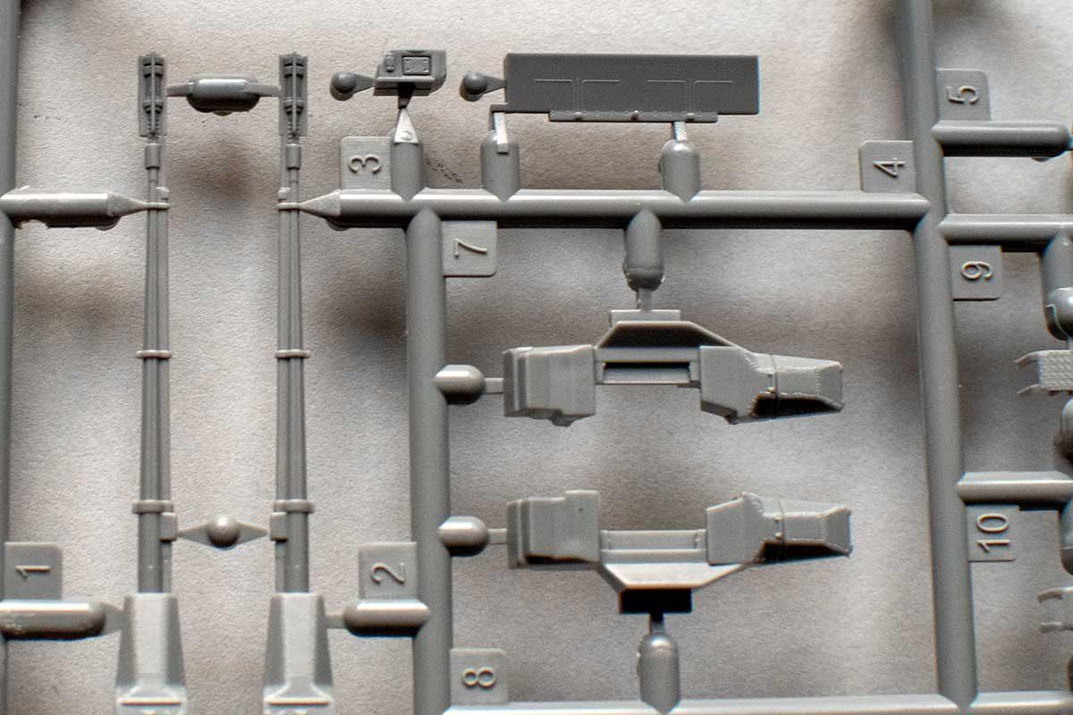 Fujimi Type 87 - gun barrels and boxes
