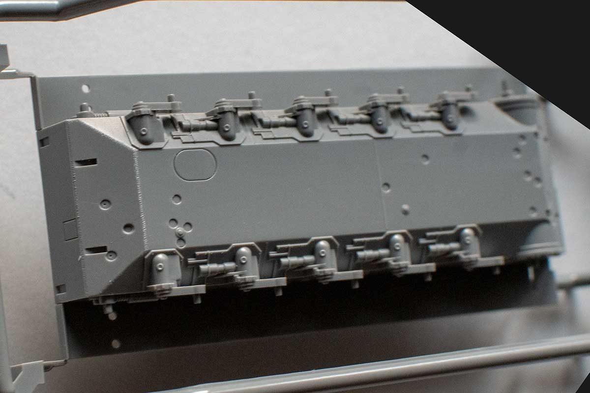 Fujimi Type 87 sprue B - hull tub