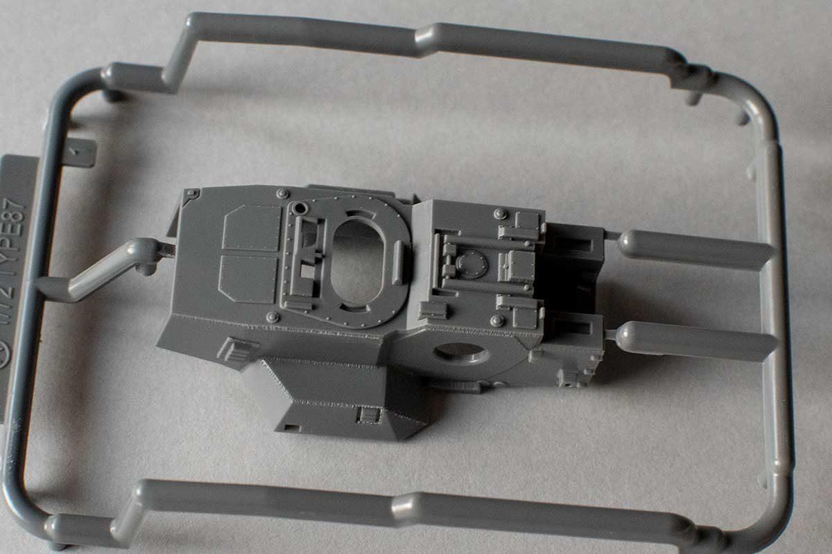 Fujimi Type 87 sprue A - turret top