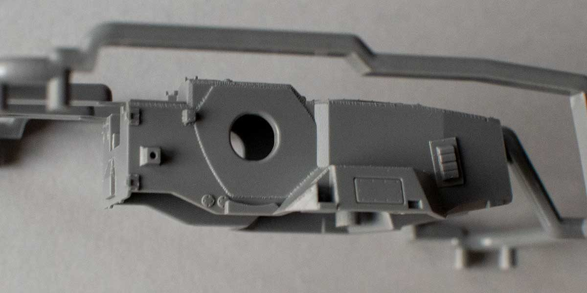 Fujimi Type 87 - turret top from the side