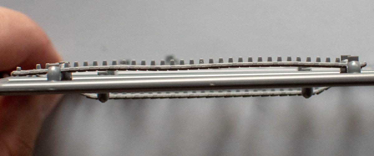 Fujimi Type 87 - upper track run