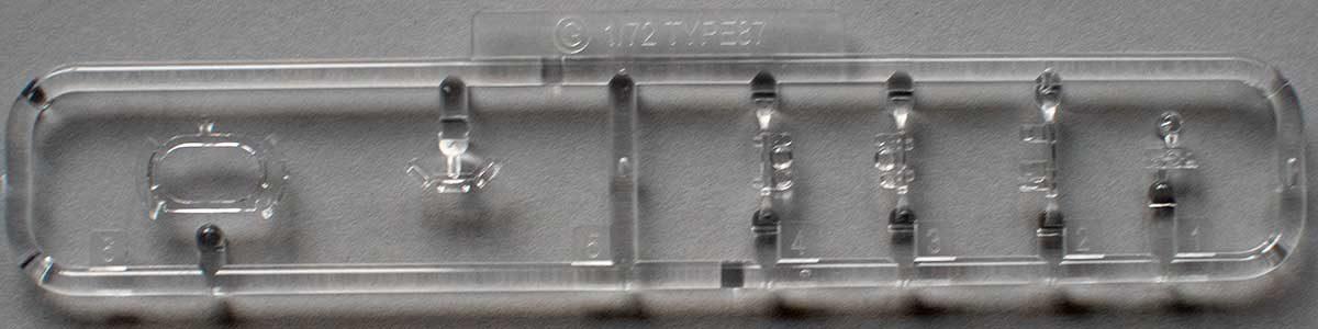 Fujimi Type 87 sprue G - transparent parts