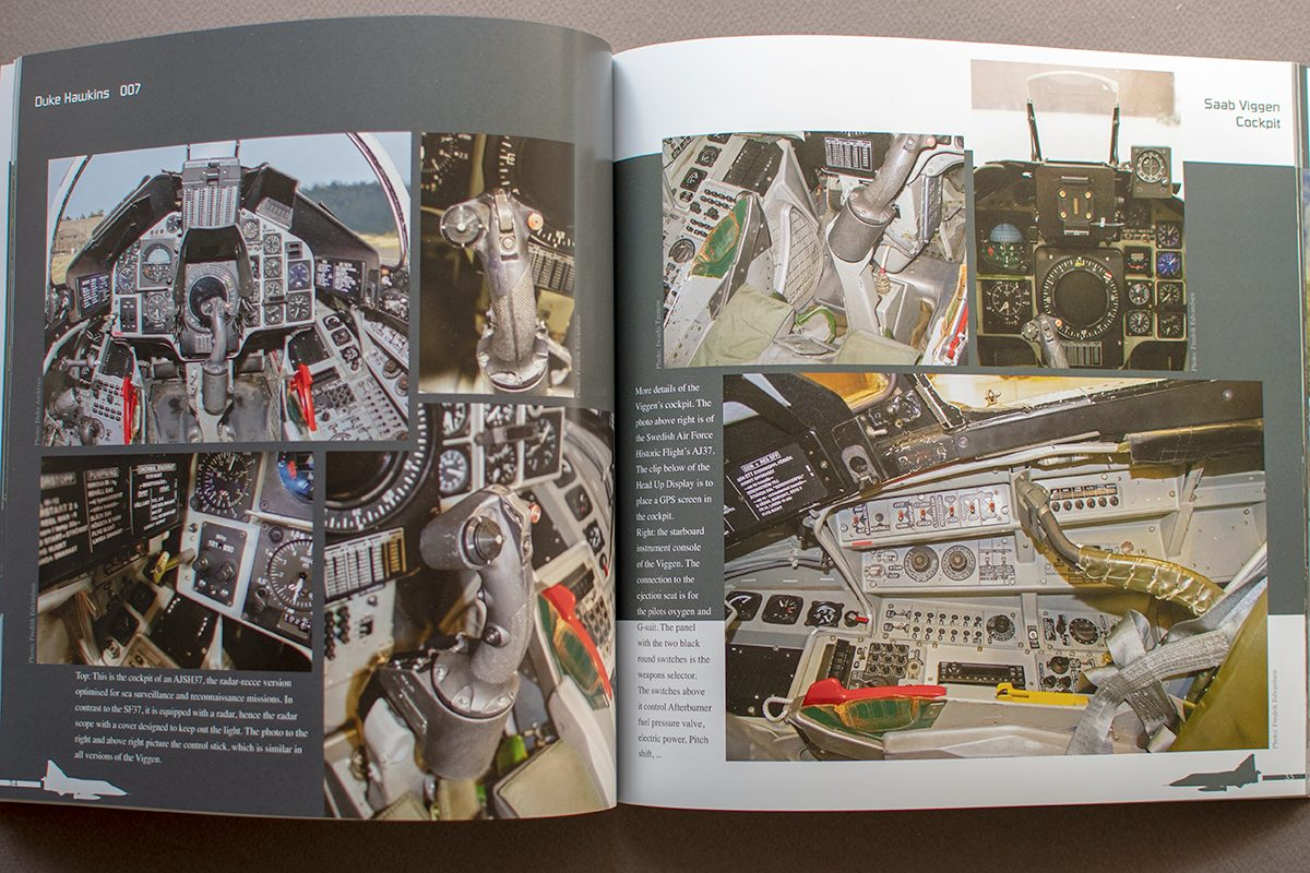 """Duke Hawkins 007 """"Saab 37 Viggen"""": pages from the book"""